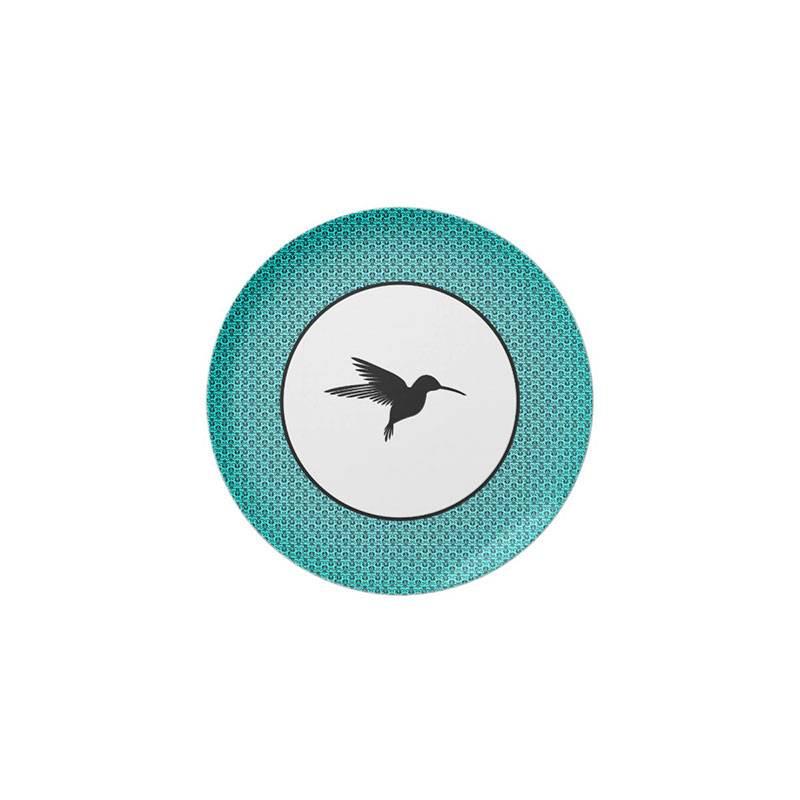 Plato colibri retro